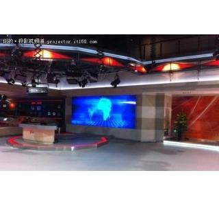 石家庄电视台演播室新闻直播背景墙